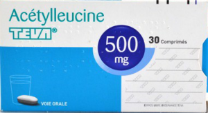Acetylleucine teva 500 mg, comprimé