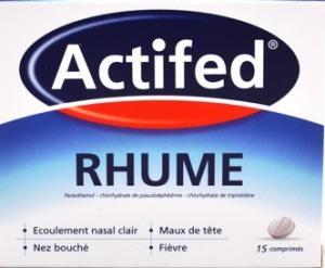 Actifed rhume, comprimé