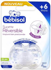Bébisol sucette réversible silicone +6 mois sr22