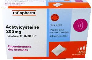 Acetylcysteine ratiopharm conseil 200 mg, poudre pour solution buvable en sachet-dose
