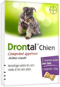 Bayer drontal chien comprimé appétent 2 comprimés