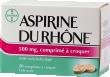 Aspirine du rhône 500 mg, comprimé à croquer