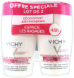 Vichy déodorant anti-transpirant bille 48h anti repousse peau sensible ou epilée lot de 2 x 50 ml